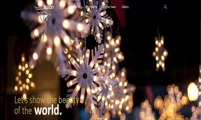 طراحی وب سایت swanlamp